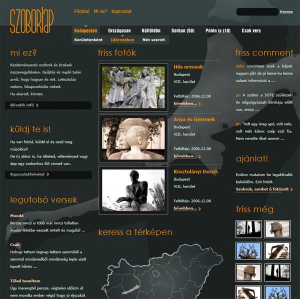 Szoborlap.hu 2006-ban