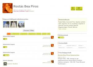 Rostás Bea Piros profiloldala és az általa feltöltött művek